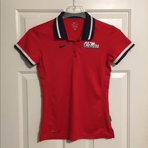 Nike Ole Miss Rebels Womens Polo Shirt Sz Small